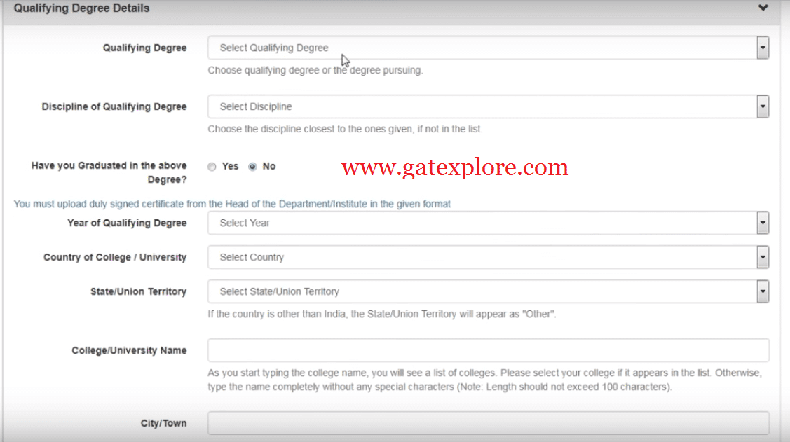 How to Fill GATE 2020 Online Application Form