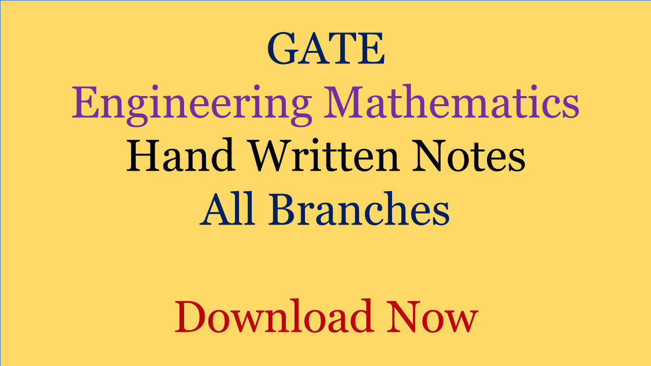 GATE Engineering Mathematics Hand Written Notes