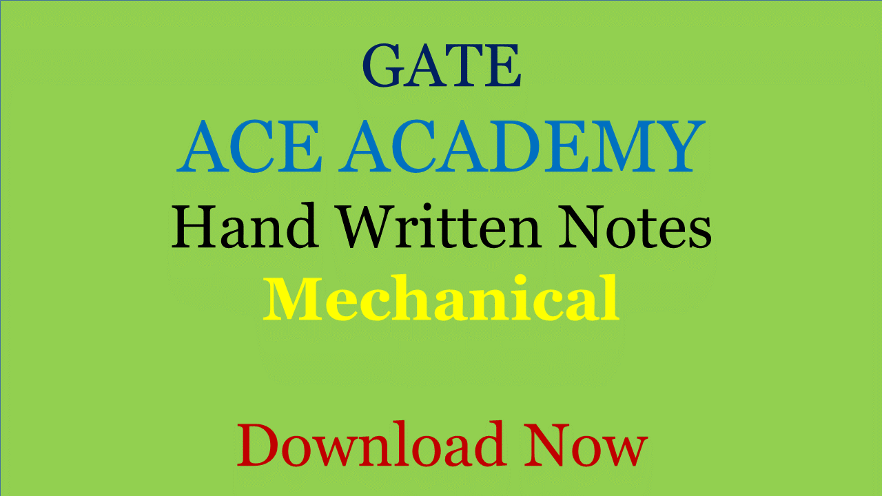 PDF] ACE Academy Class Notes - Mechanical Engineering