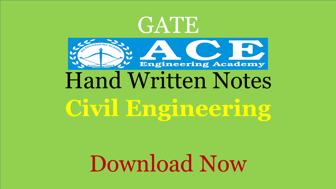 PDF] ACE Academy Class Notes Civil Engineering Download Now