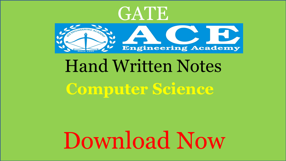ACE Academy Class Notes Computer Science