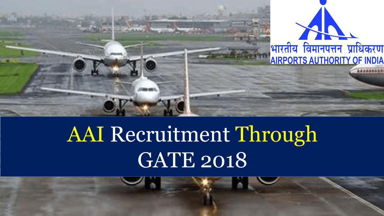 AAI Recruitment Through GATE