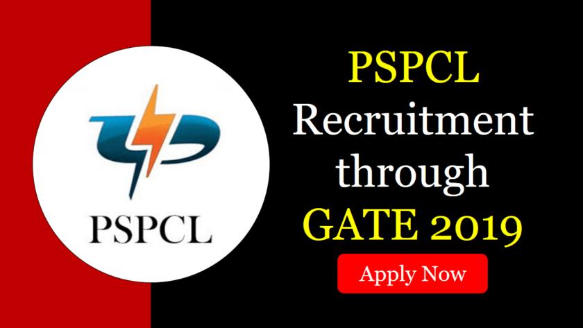 PSPCL Recruitment through GATE 2019