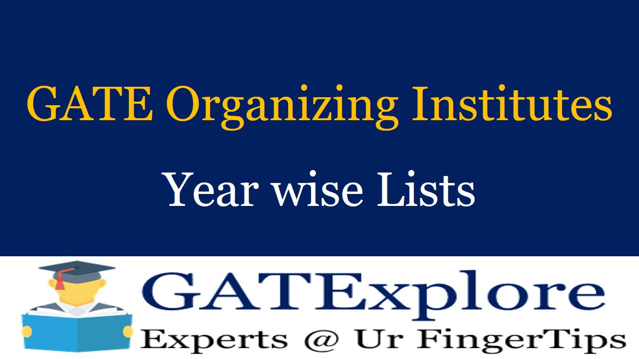 GATE Organizing Institutes