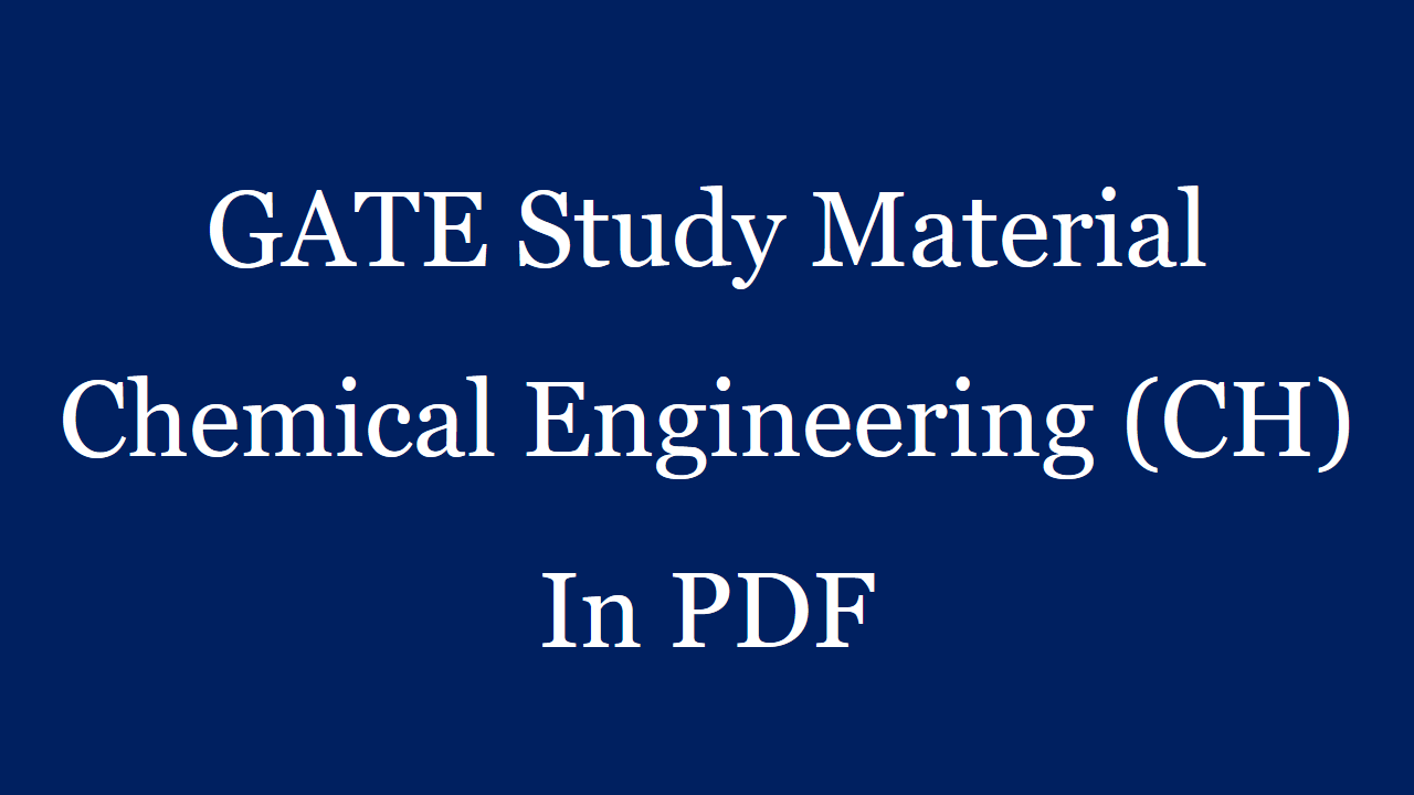 GATE Exams Study Materials For Civil Chemical Mechanical ...