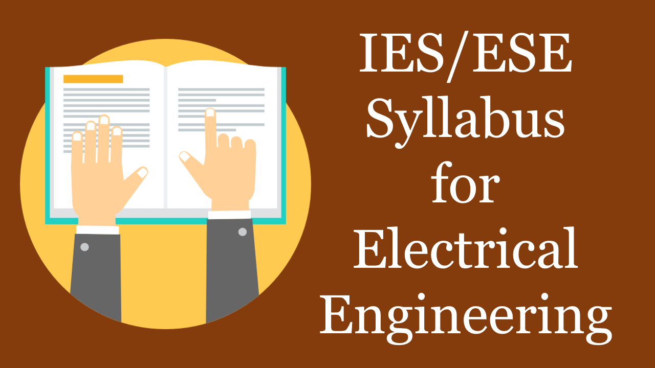 PDF] IES 2020 Syllabus for Electrical Engineering (EE) Download