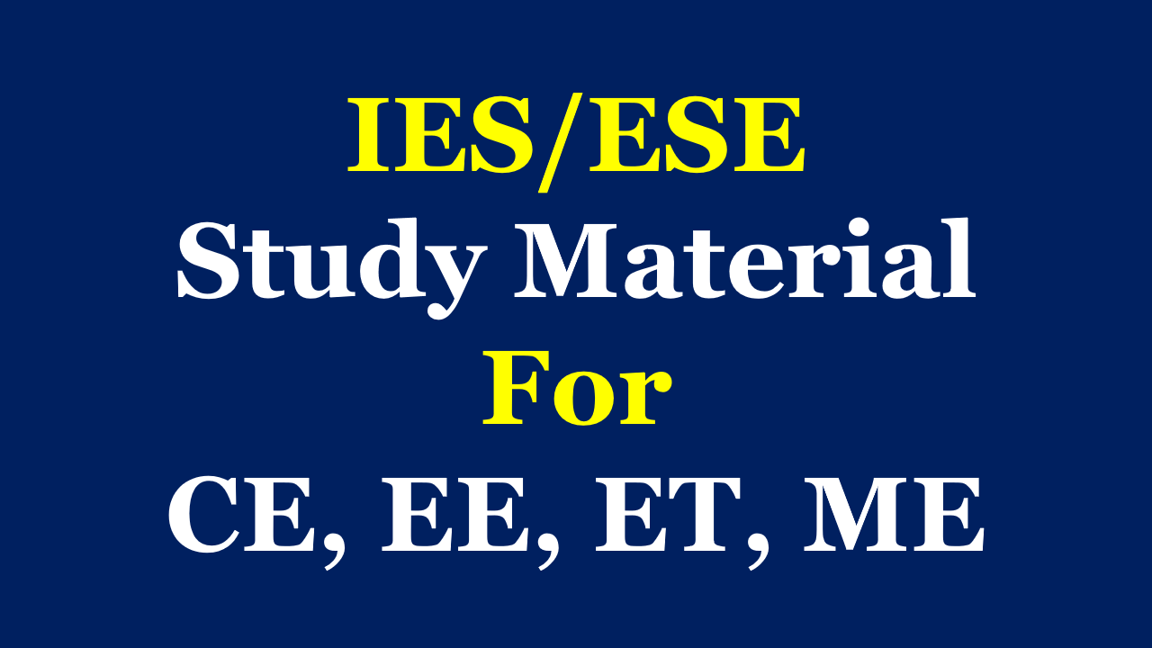 Pdf Ies Study Material Free Download For All Branches