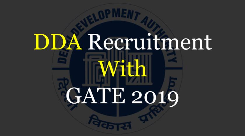 DDA Recruitment 2019
