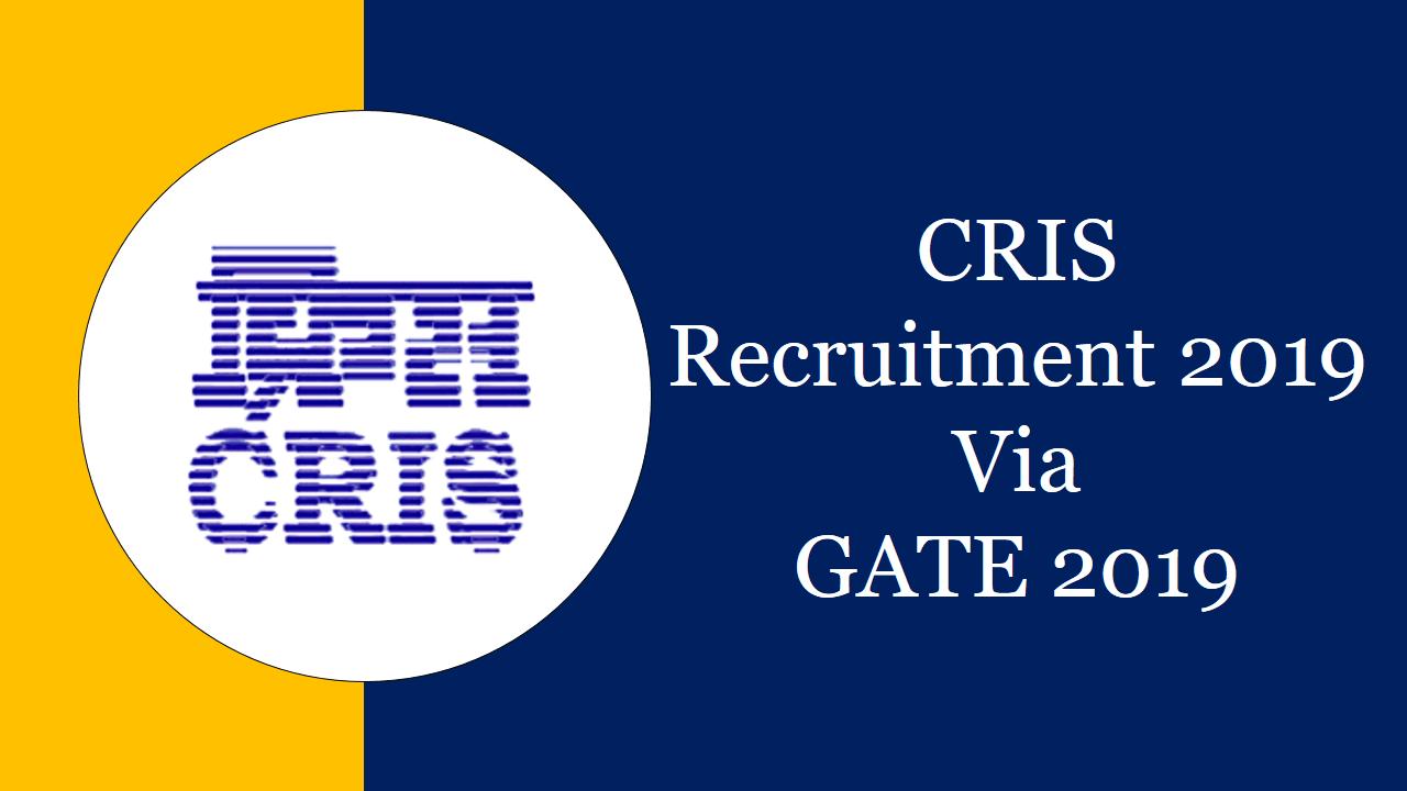 cris recruitment 2019